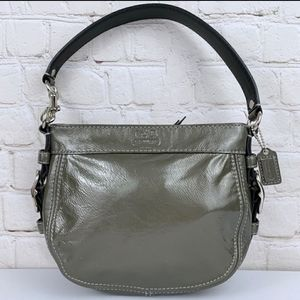 Coach Mini Zoe F41869 Pewter Patent Leather Sachel